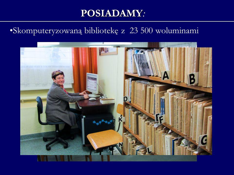 Skomputeryzowaną bibliotekę z 23 500 woluminami