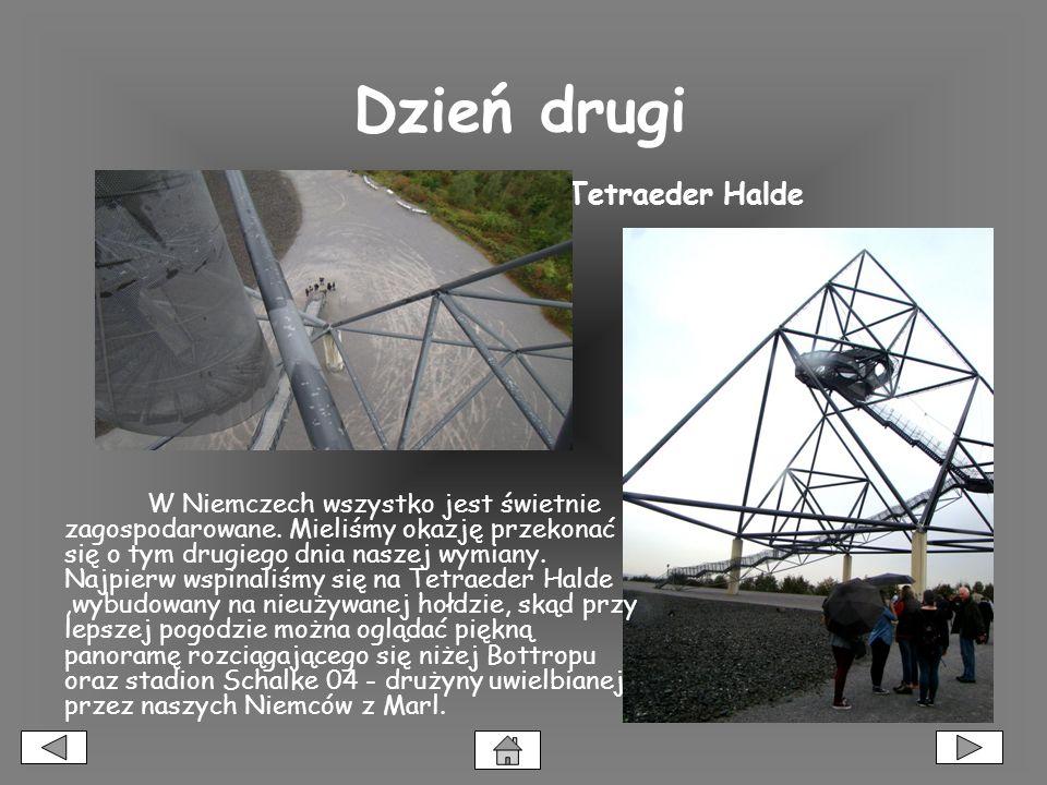 Dzień drugi Tetraeder Halde W Niemczech wszystko jest świetnie zagospodarowane.