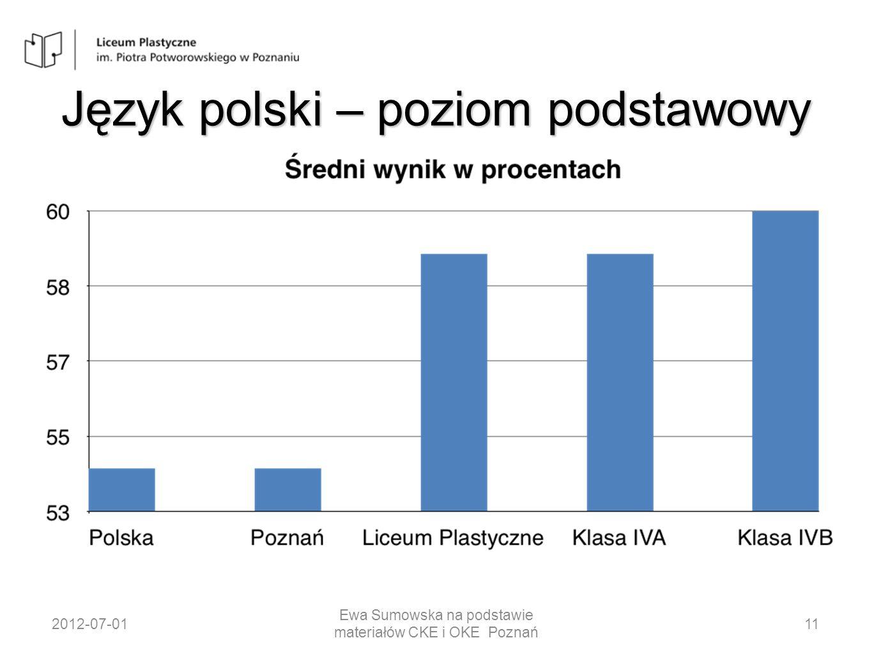 Historia sztuki – poziom rozszerzony 2012-07-01 Ewa Sumowska na podstawie materiałów CKE i OKE Poznań 33