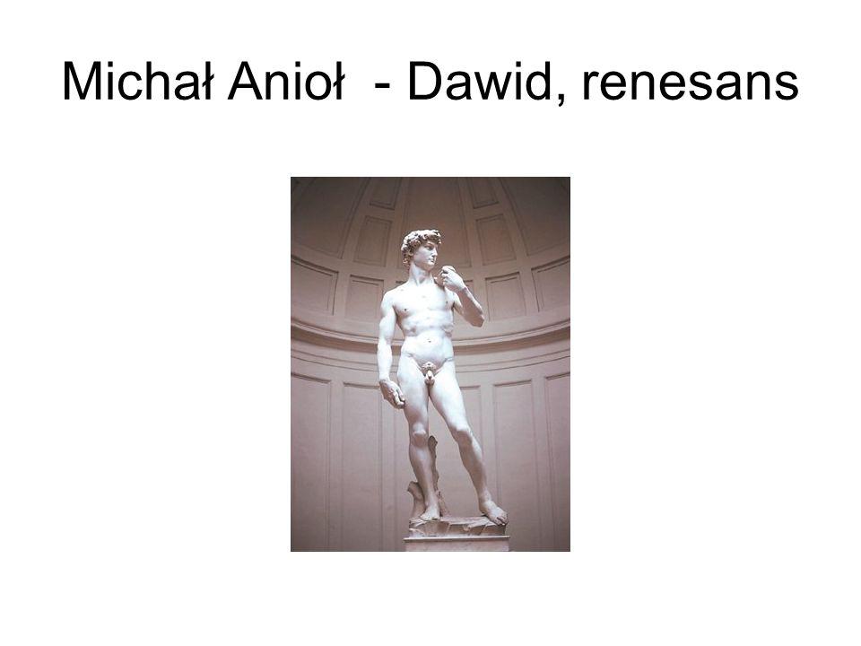 Michał Anioł - Dawid, renesans