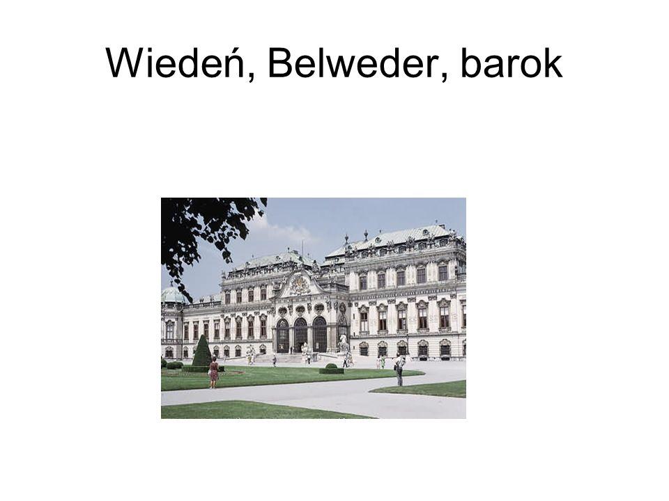 Wiedeń, Belweder, barok