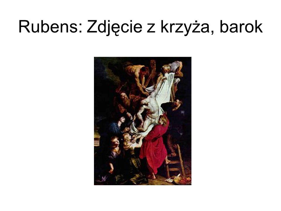 Rubens: Zdjęcie z krzyża, barok
