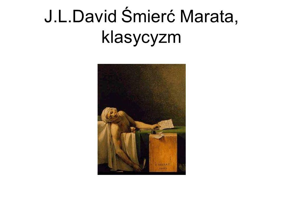 J.L.David Śmierć Marata, klasycyzm