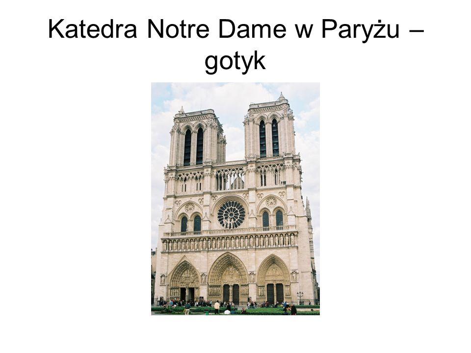 Katedra Notre Dame w Paryżu – gotyk
