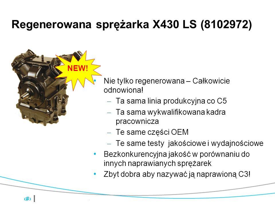 X430 Compressors 2 Regenerowana sprężarka X430 LS (8102972) Nie tylko regenerowana – Całkowicie odnowiona! – Ta sama linia produkcyjna co C5 – Ta sama