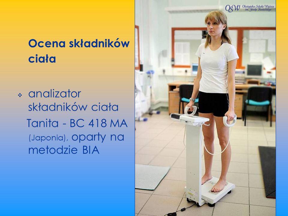 Ocena składników ciała analizator składników ciała Tanita - BC 418 MA (Japonia), oparty na metodzie BIA