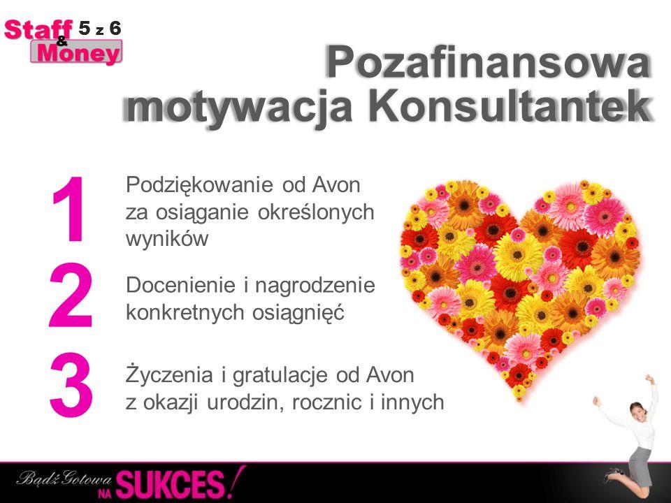 Pozafinansowa Życzenia i gratulacje od Avon z okazji urodzin, rocznic i innych 1 2 3 Docenienie i nagrodzenie konkretnych osiągnięć Podziękowanie od A