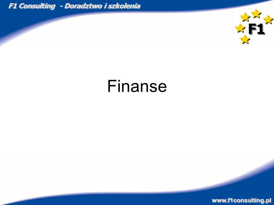 F1 Consulting - Doradztwo i szkolenia www.f1consulting.pl Finanse