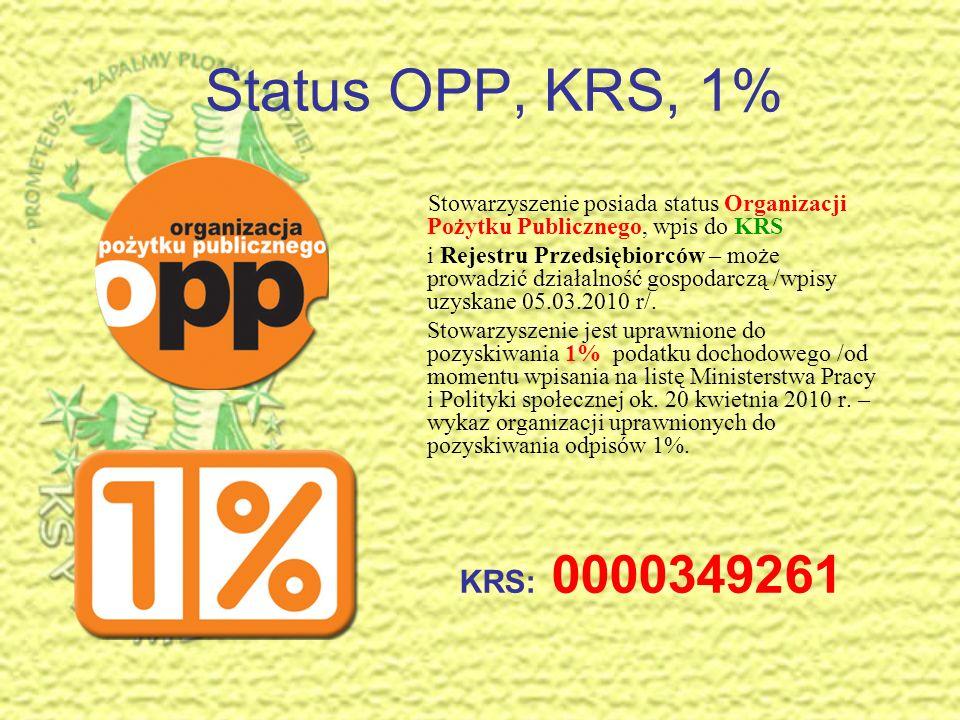 Stowarzyszenie Prometeusz Siedlce – zapalmy płomyk nadziei. Klub Sportowy Prometeusz. Prezentacja – status OPP, KRS, 1%