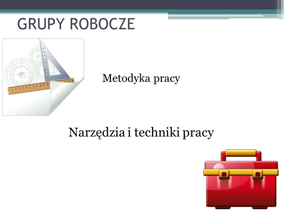 GRUPY ROBOCZE Metodyka pracy Narzędzia i techniki pracy