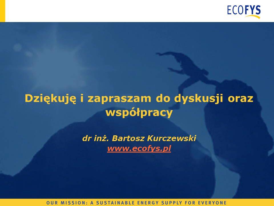 Dziękuję i zapraszam do dyskusji oraz współpracy dr inż. Bartosz Kurczewski www.ecofys.pl www.ecofys.pl