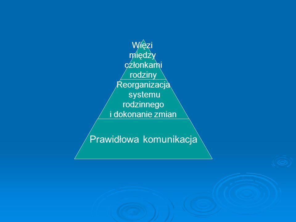 Więzi między członkami rodziny Reorganizacja systemu rodzinnego i dokonanie zmian Prawidłowa komunikacja