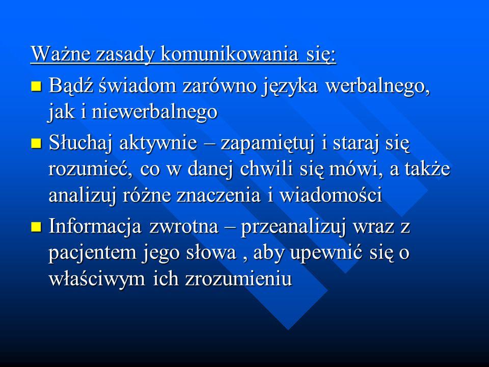 Ważne zasady komunikowania się: Bądź świadom zarówno języka werbalnego, jak i niewerbalnego Bądź świadom zarówno języka werbalnego, jak i niewerbalneg
