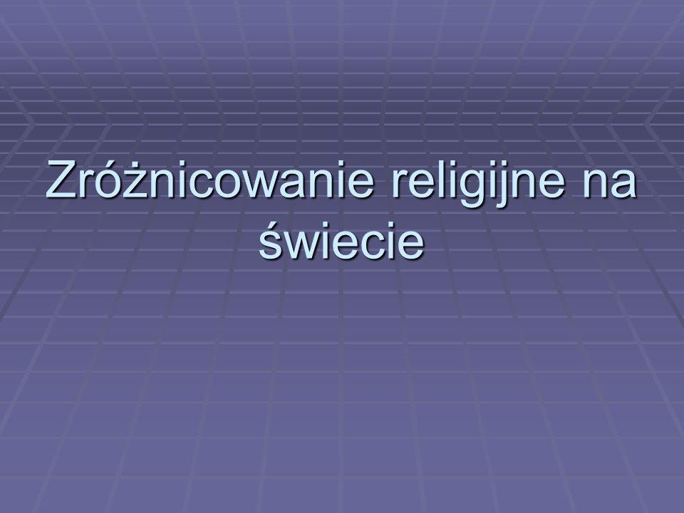 Zróżnicowanie religijne na świecie
