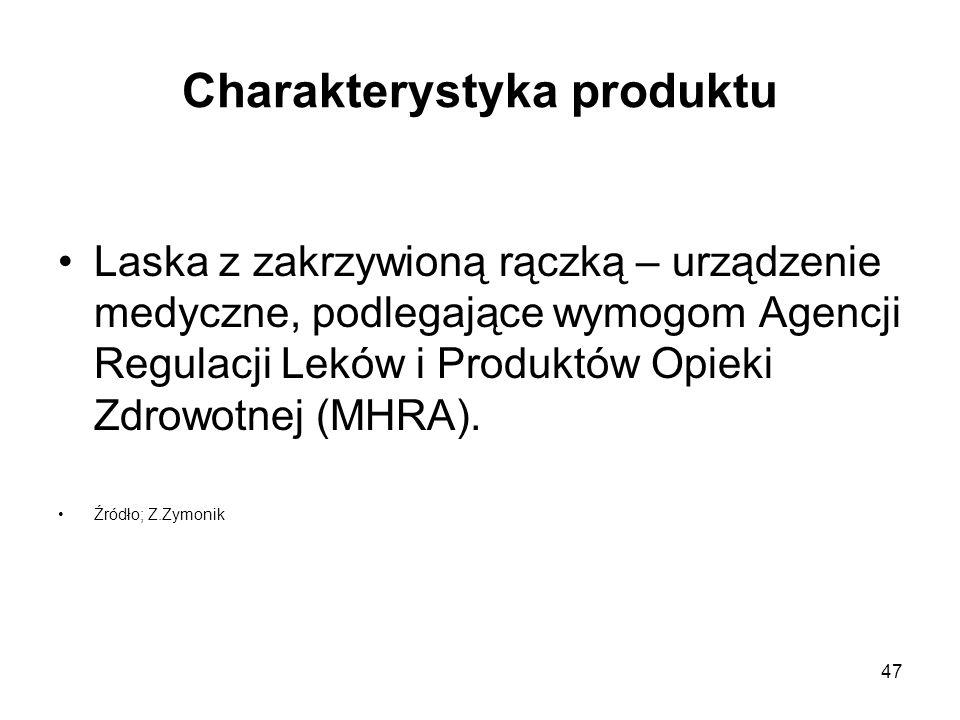 47 Charakterystyka produktu Laska z zakrzywioną rączką – urządzenie medyczne, podlegające wymogom Agencji Regulacji Leków i Produktów Opieki Zdrowotne