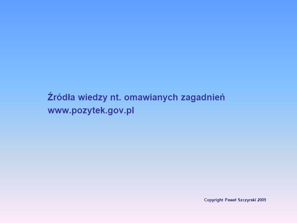 Copyright Paweł Szczyrski 2009 Organizacja pożytku publicznego może otrzymywać 1 % podatku dochodowego od osób fizycznych oraz innych uprawnionych grup podatników (wyniki za 2007 rok po zmianie mechanizmu odpisu – 296 mln zł przekazanych w PIT w 2008 r.)