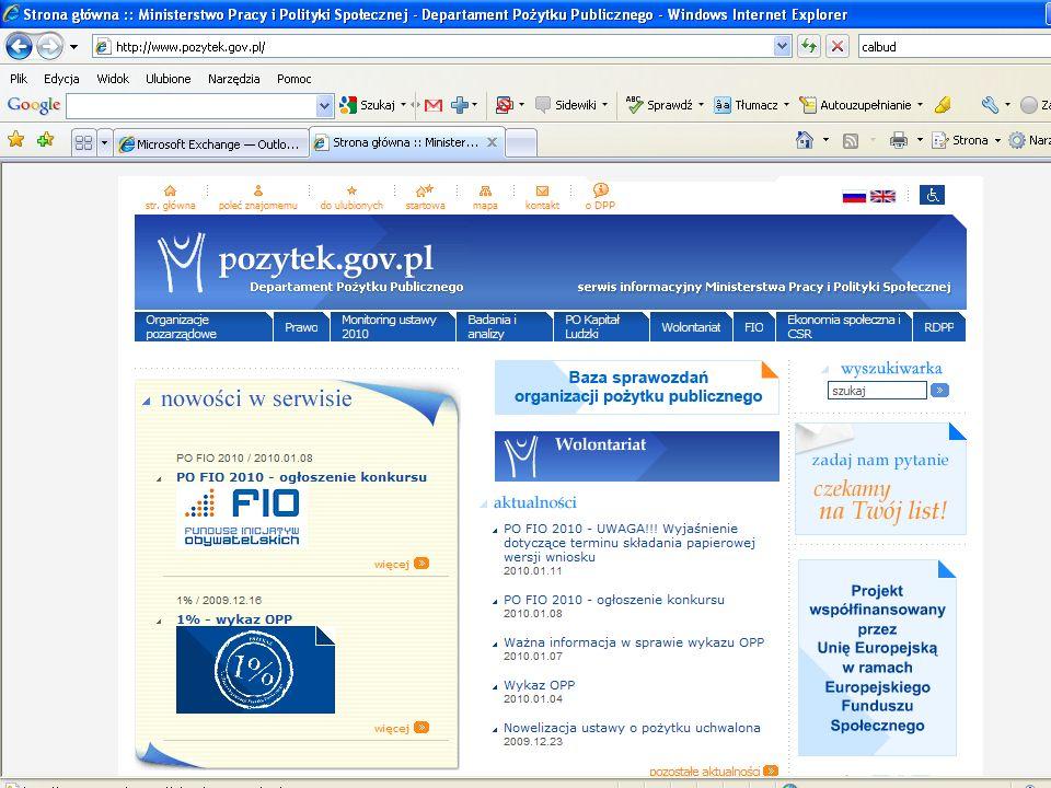 Copyright Paweł Szczyrski 2009 Źródła wiedzy nt. omawianych zagadnień www.pozytek.gov.pl