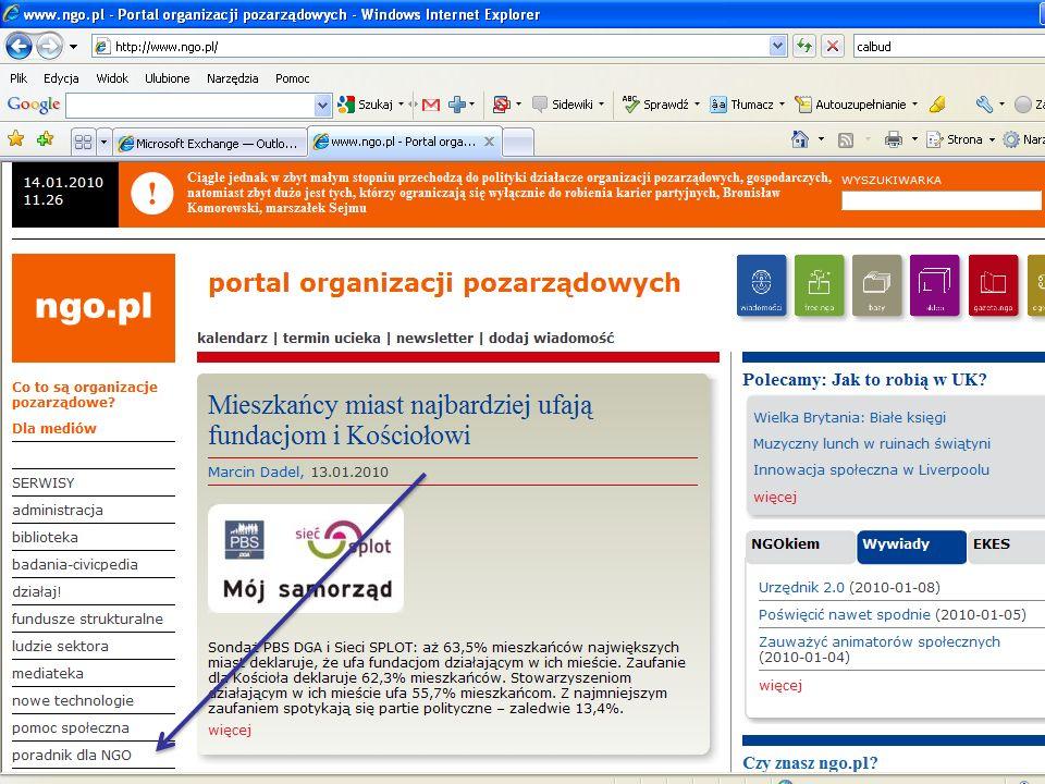 Art.12. 1. Organizacja pozarządowa oraz podmioty wymienione w art.