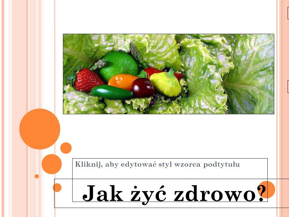 Kliknij, aby edytować styl wzorca podtytułu 11-6-21 Jak żyć zdrowo?