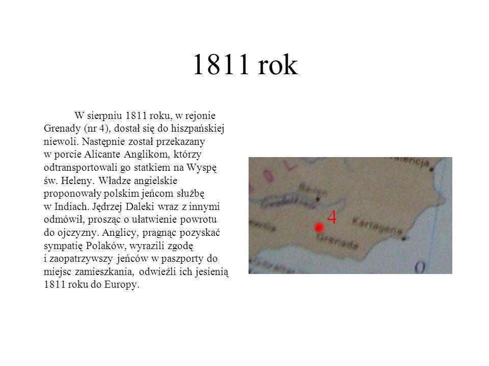 1811 rok W sierpniu 1811 roku, w rejonie Grenady (nr 4), dostał się do hiszpańskiej niewoli. Następnie został przekazany w porcie Alicante Anglikom, k
