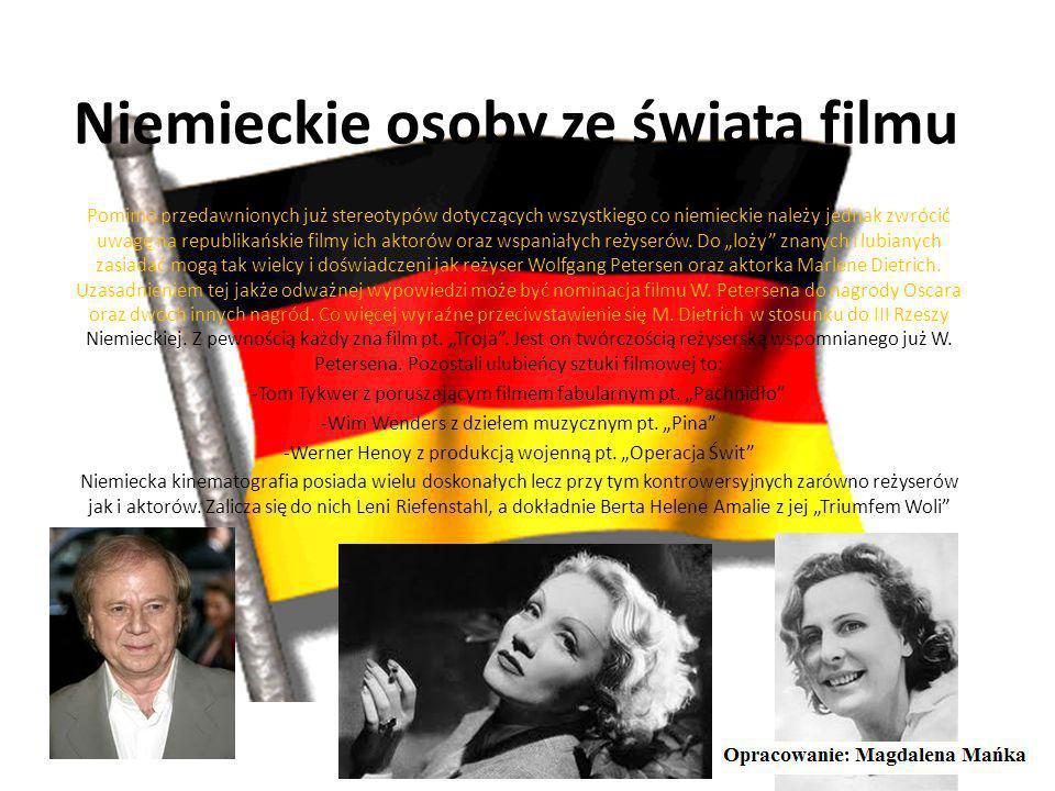 Niemieckie osoby ze świata nauki Niemcy poza znakomitymi muzykami, sportowcami i osobami kultury dysponują wybitnymi naukowcami. Konkretnie chodzi mi