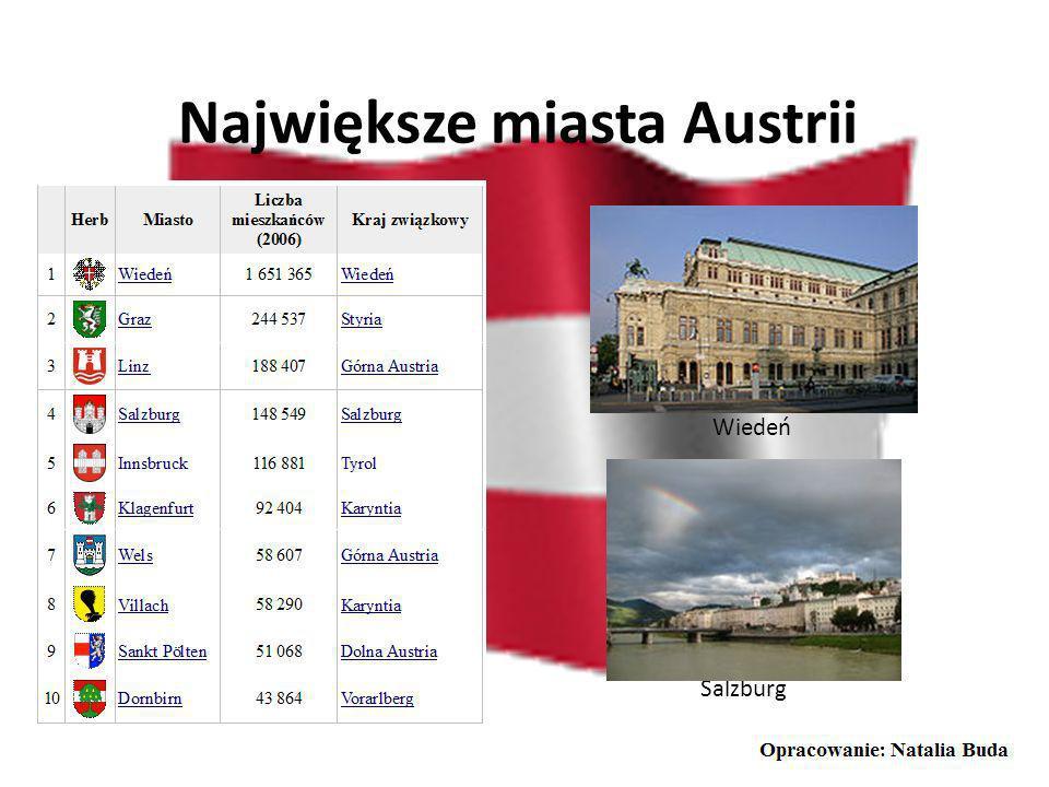 Położenie geograficzne Austrii Austria jest państwem leżącym w Europie Środkowej. Powierzchnia kraju wynosi 83 871 km2 i nie posiada dostępu do morza.