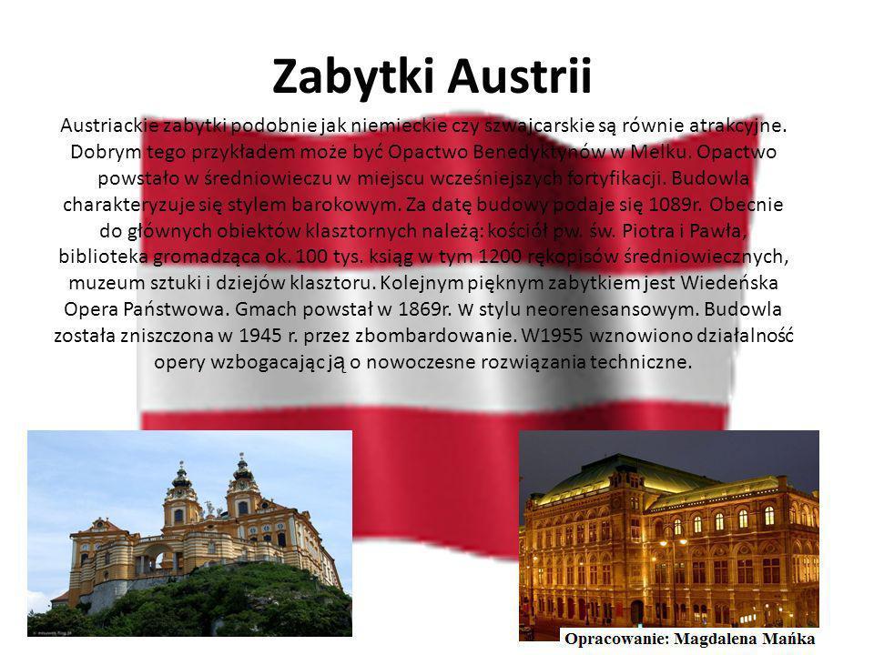 Największe miasta Austrii Wiedeń Salzburg