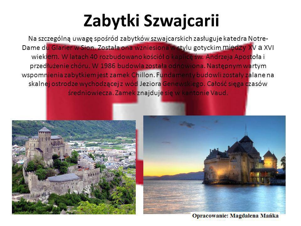 Największe miasta Szwajcarii Lozanna Genewa miastolb. mieszkańców Zurych 371 767 Genewa 185 524 Bazylea 165 846 Lozanna129 000 Berno 128 041