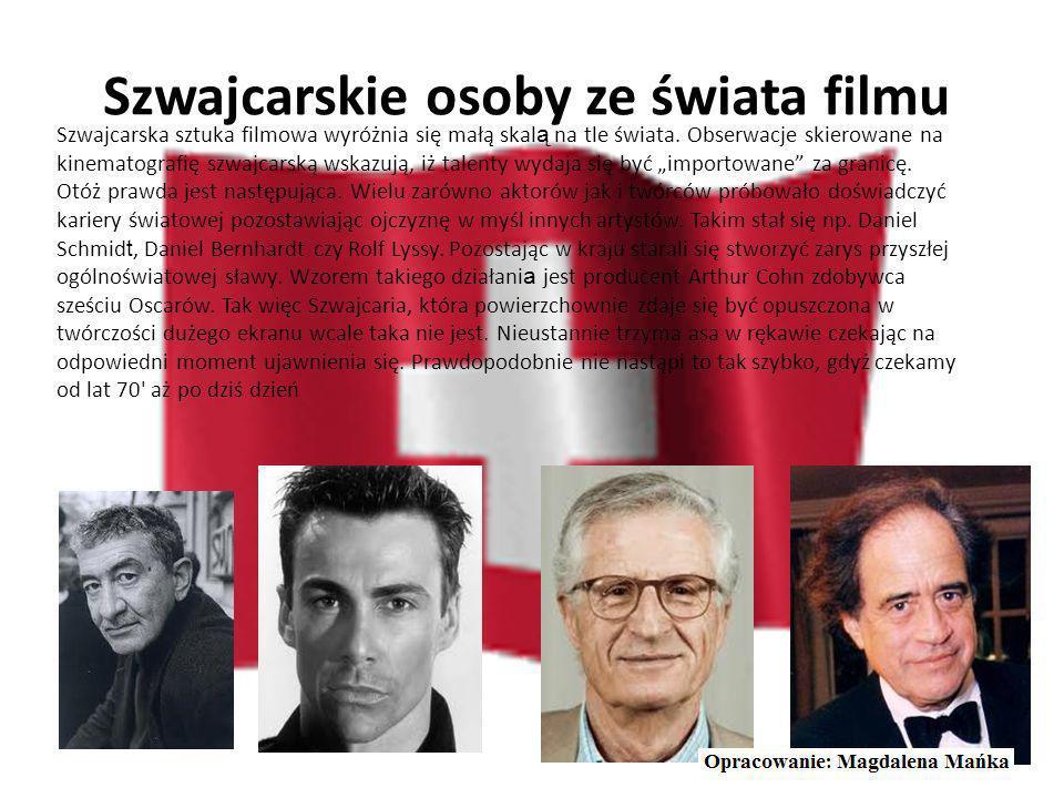 Szwajcarskie osoby ze świata nauki Spośród szwajcarskich głównych myślicieli najbardziej odznaczał się Carl Gustav Jung. Poza filozofi ą zajmował się