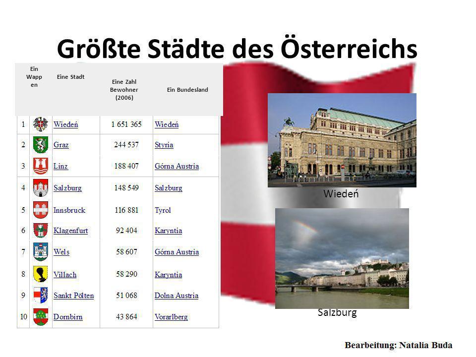 Geographische Lage Österreich ist ein demokratischer Bundesstaat in Mitteleuropa. Als Binnenstaat grenzt Österreich im Norden an Deutschland und Tsche
