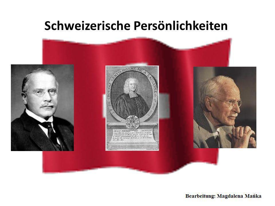 Schweizerische Persönlichkeiten Carl Gustav Jung meist kurz C. G. Jung, war ein Schweizer Psychiater und der Begründer der analytischen Psychologie. C