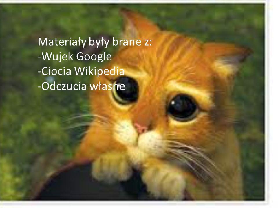 Materiały były brane z: -Wujek Google -Ciocia Wikipedia -Odczucia własne