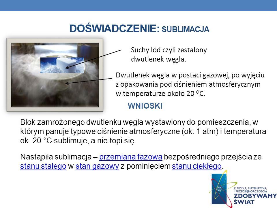 ZADANIE: Oblicz ile energii należy dostarczyć do 300 g lodu o temperaturze 0 o C, aby otrzymać wodę o temperaturze 15 o C.