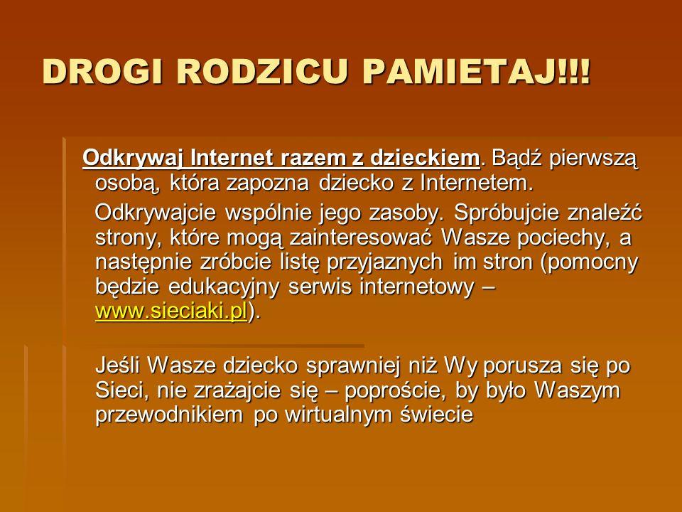 www.nask.pl - strona Naukowej i Akademickiej Sieci Komputerowej www.nask.pl - strona Naukowej i Akademickiej Sieci Komputerowej www.nask.pl www.cert.pl strona CERT Polska (Computer Emergency Response Team) - zespołu reagującego na zagrożenia i incydenty w sieciach komputerowych; serwis oferuje m.in.