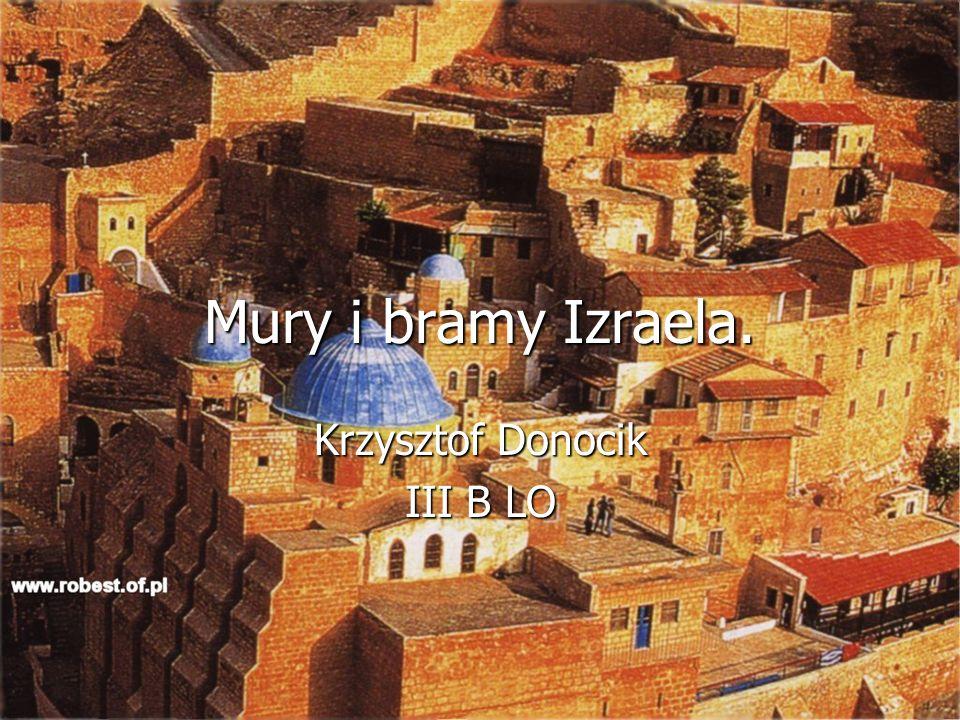 Mury i bramy Izraela. Krzysztof Donocik III B LO