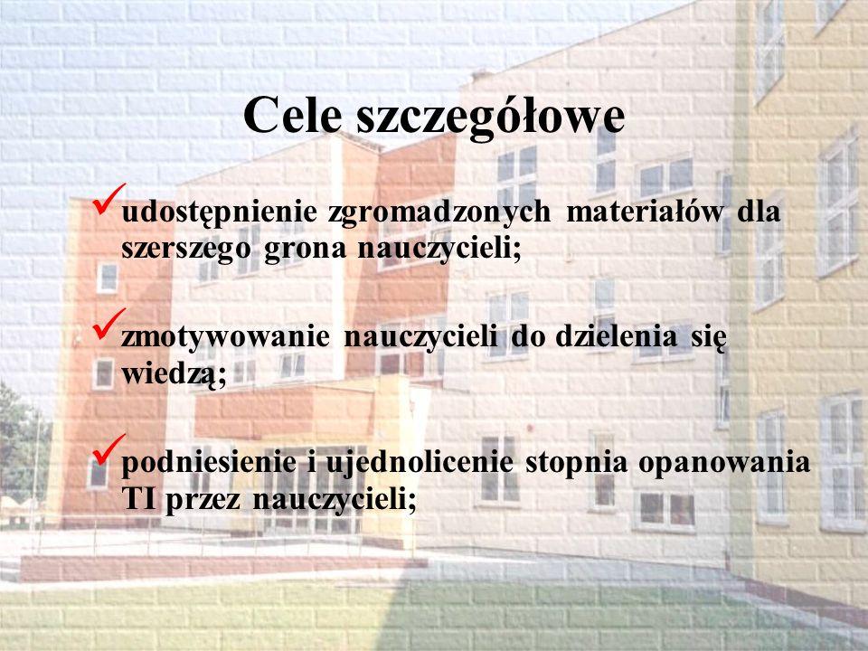 Związki projektu z innymi działaniami Wprowadzany projekt związany jest z działaniami szkoły zmierzającymi do uzyskania certyfikatu Interklasy.