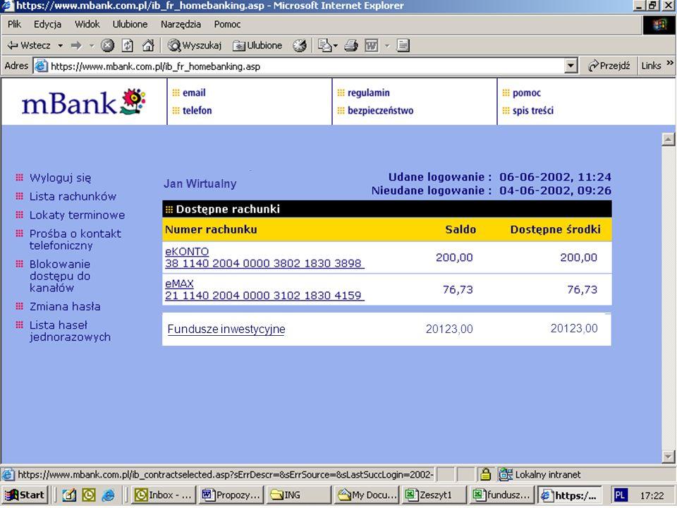 Fundusze inwestycyjne 20123,00 Jan Wirtualny