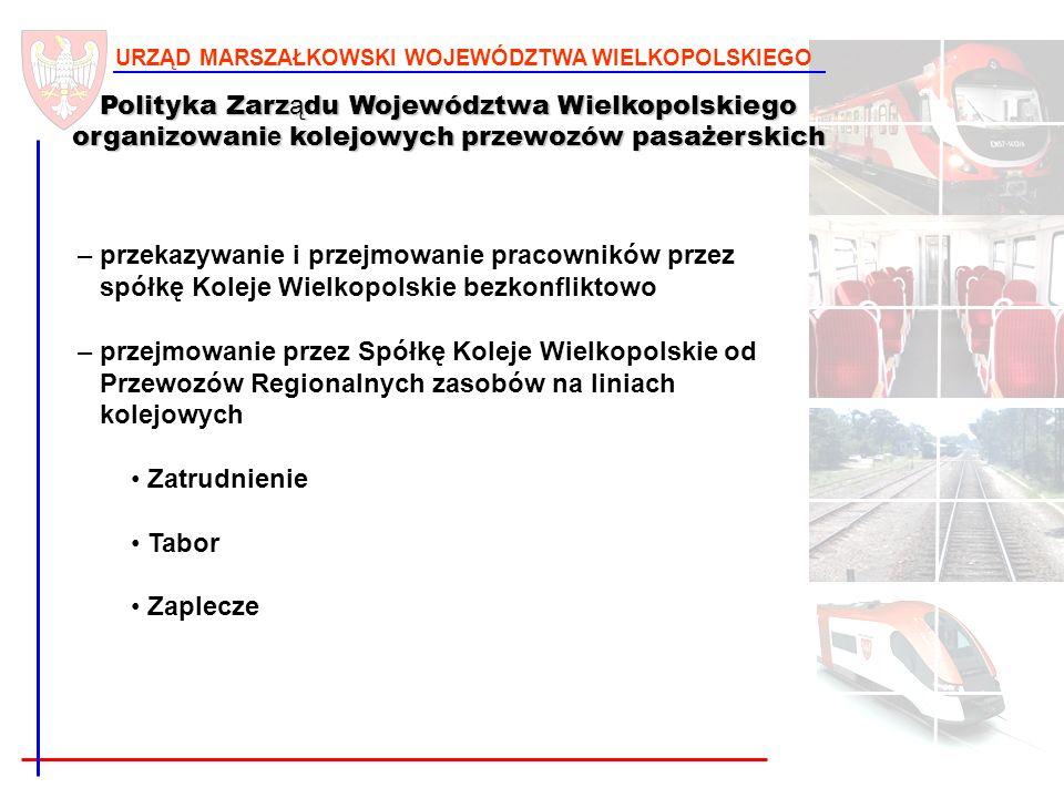 13 URZĄD MARSZAŁKOWSKI WOJEWÓDZTWA WIELKOPOLSKIEGO Polityka Zarz ą du Województwa Wielkopolskiego organizowani e kolejowych przewozów pasażerskich – p