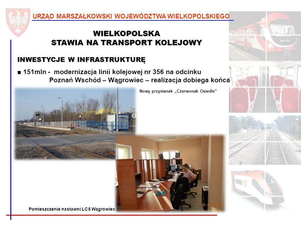 16 URZĄD MARSZAŁKOWSKI WOJEWÓDZTWA WIELKOPOLSKIEGO WIELKOPOLSKA STAWIA NA TRANSPORT KOLEJOWY INWESTYCJE W INFRASTRUKTURĘ 151mln - modernizacja linii k