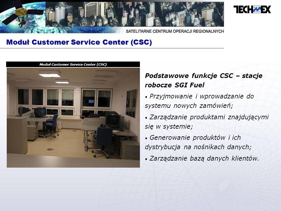 Podstawowe funkcje SCT – HP j6750 Interpretowanie zamówień wprowadzonych przez CSC; Planowanie misji satelity nad rejonem operacji; Programowanie sensora satelity; Prezentowanie danych o stanie satelity i sensora; Szyfrowanie i deszyfrowanie danych; Tworzenie metadanych dla pozyskiwanych obrazów.