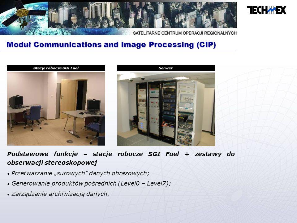 Podstawowe funkcje – HP B1000 Śledzenie ruchu satelity; Transmisja danych do satelity; Odbiór danych o stanie satelity; Odbiór zarejestrowanych danych obrazowych.