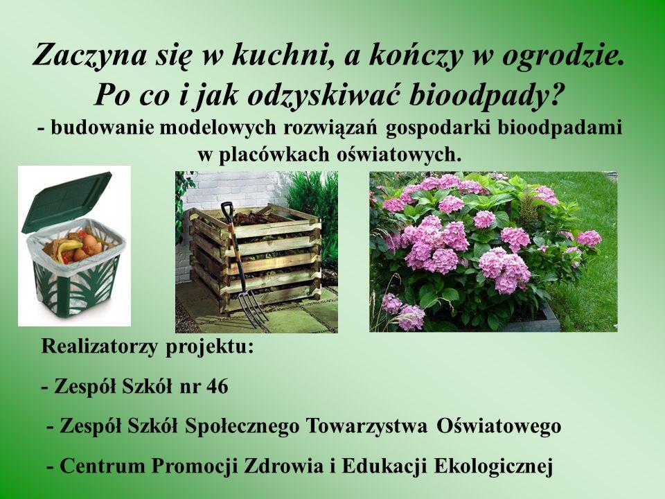 Przydatne informacje można znaleźć: zs46bemowo.pl/zc www.recykling.pl - odpadowe ABC www.odpad.pl - portal tematyczny zawierający aktualne przepisy prawne w gospodarce odpadami, wykaz organizacji odzysku oraz firm zagospodarowujących odpady www.mos.gov.pl/odpady - Ministerstwo Środowiska - Plany Gospodarki Odpadami www.tnz.most.org.pl - gospodarowanie odpadami w prawodawstwie Unii Europejskiej