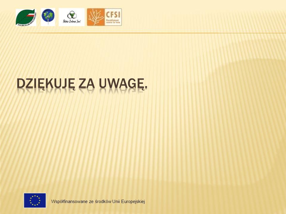 Współfinansowane ze środków Unii Europejskiej