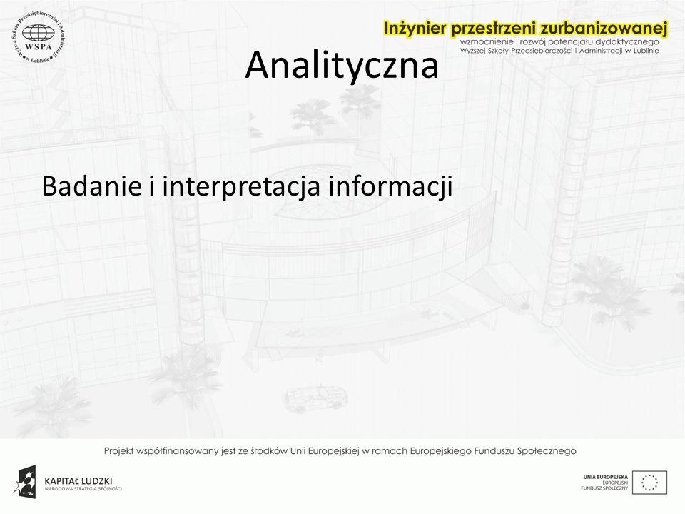 Analityczna Badanie i interpretacja informacji
