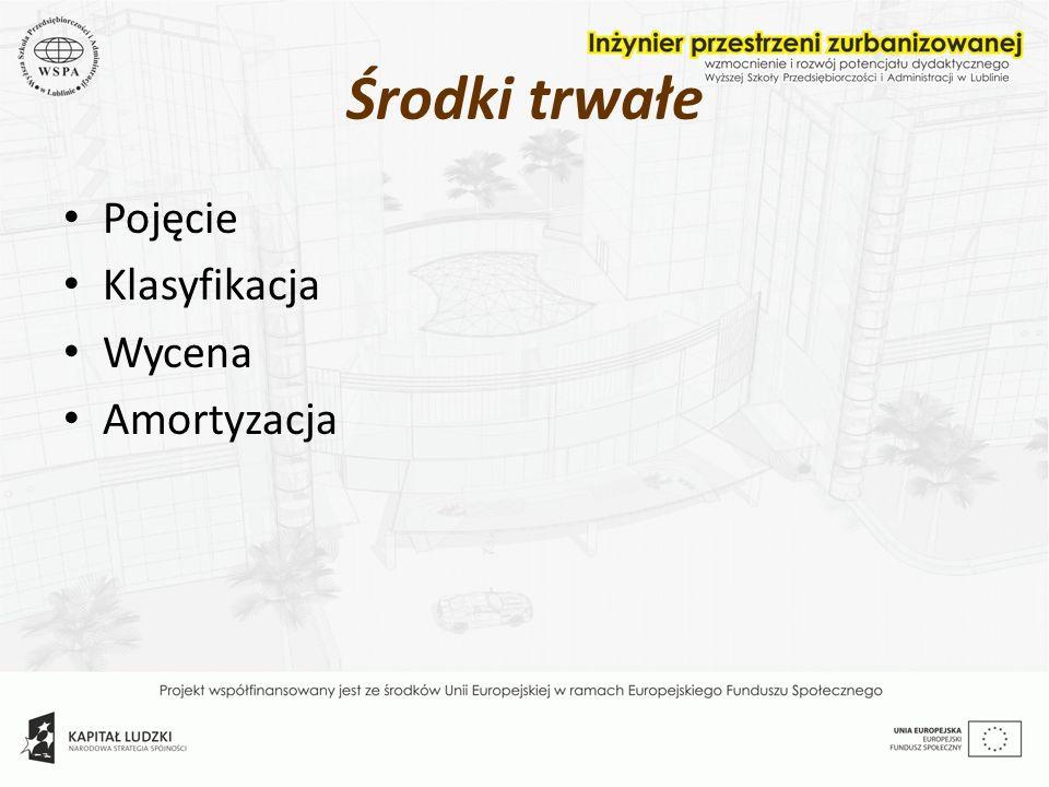 Przyjęcie środka trwałego po zakończeniu jego budowy Środki trwałe w budowie Środki trwałe 11