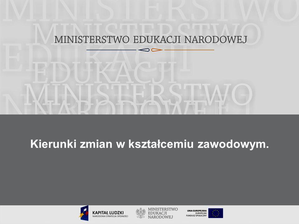 22 Cele modernizacji kształcenia zawodowego dostosowanie oferty edukacyjnej do potrzeb zmieniającego się rynku pracy uelastycznienie oferty kierunków kształcenia poprawa jakości kształcenia i zdawalności egzaminów zawodowych otwarcie na potrzeby uczniów niepełnosprawnych