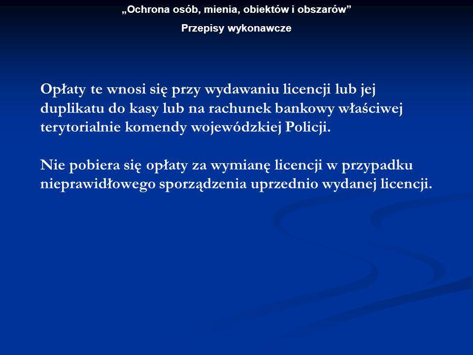 Ochrona osób, mienia, obiektów i obszarów Przepisy wykonawcze ROZPORZĄDZENIE MINISTRA ZDROWIA I OPIEKI SPOŁECZNEJ z dnia 23 marca 1999 r.