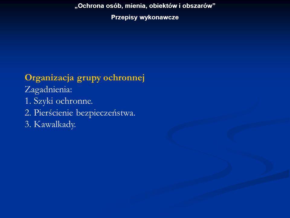 Ochrona osób, mienia, obiektów i obszarów Przepisy wykonawcze Blok: ochrona mienia 70 godz.