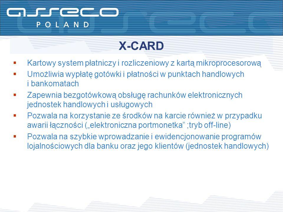 Kartowy system płatniczy i rozliczeniowy z kartą mikroprocesorową Umożliwia wypłatę gotówki i płatności w punktach handlowych i bankomatach Zapewnia b