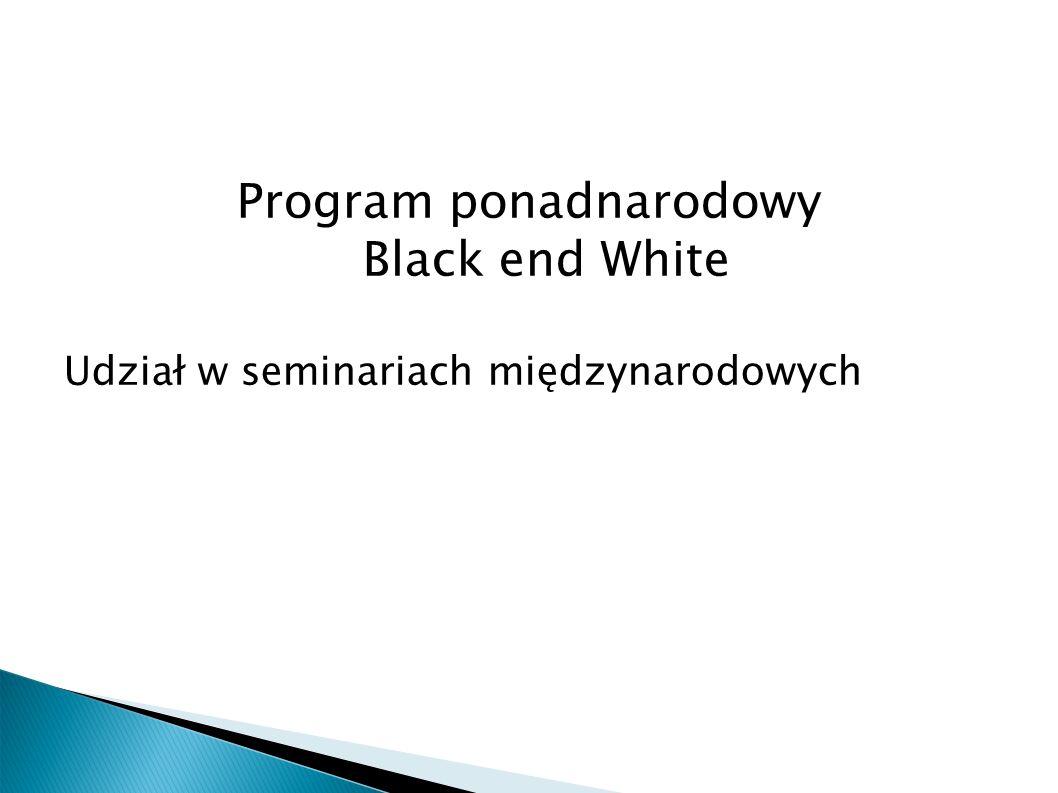Program ponadnarodowy Black end White Udział w seminariach międzynarodowych